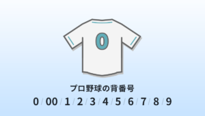 プロ野球の背番号0・00・1・2・3・4・5・6・7・8・9