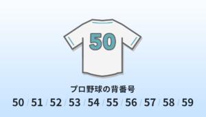 プロ野球の背番号50・51・52・53・54・55・56・57・58・59